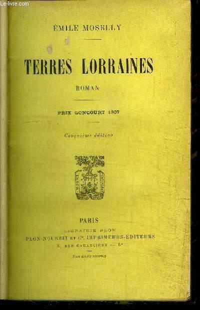 TERRES LORRAINES