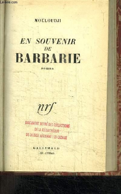 EN SOUVENIR DE BARBARIE