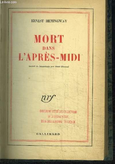MORT DANS L'APRES-MIDI