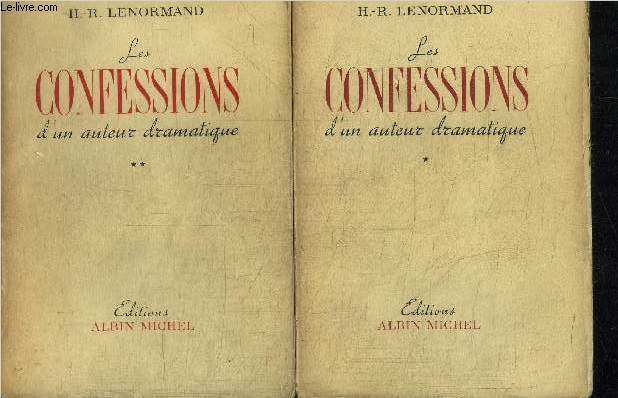 LES CONFESSIONS D'AUTEUR DRAMATIQUE - 2 TOMES EN 2 VOLUMES