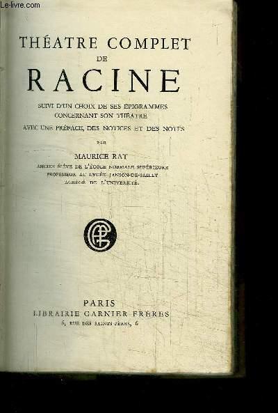 THEATRE COMPLET DE RACINE