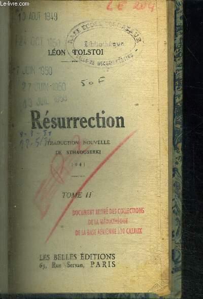 RESURRECTION - TOME 2