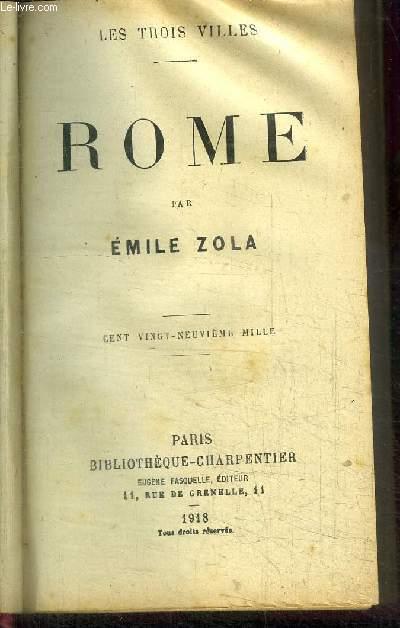 ROME / COLLECTION LES TROIS VILLES