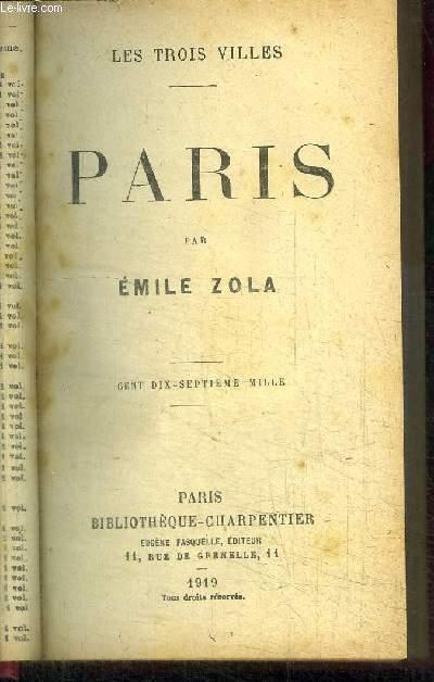 PARIS / COLLECTION LES TROIS VILLES