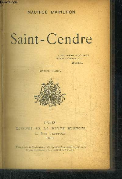 SAINT-CENDRE / 7e EDITIONS