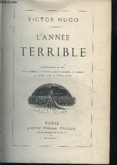 L'ANNEE TERRIBLE - QUATREVINGT TREIZE