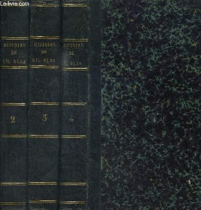 HISTOIRE DE GIL BLAS DE SANTILLANE - TOMES 2 + 3 + 4 EN 3 VOLUMES