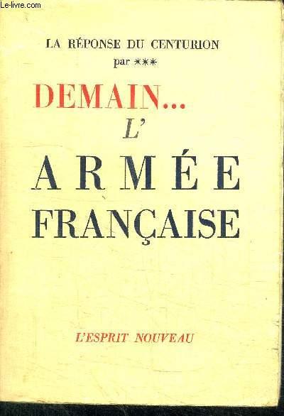 DEMAIN... L'ARMEE FRANCAISE