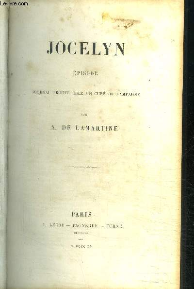 JOCELYN - EPISODE - JOURNAL TROUVE CHEZ UN CURE DE CAMPAGNE