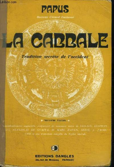 LA CABBALE - TRADITION SECRETE DE L'OCCIDENT - 3e EDITION