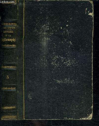 COURS DE L'HISTOIRE DE LA PHILOSOPHIE MODERNE - TOME III - 2e SERIE - NOUVELLE EDITION