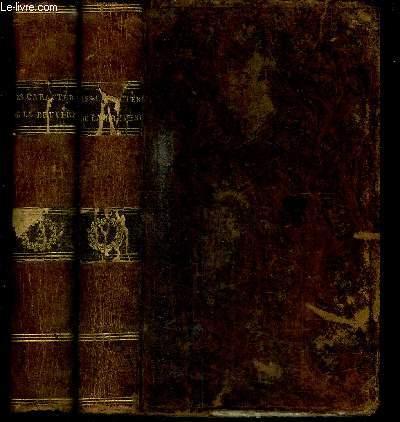 LES CARACTERES DE THEOPHRASTE ET DE LA BRUYERE - TOME 1 + 2 EN 2 VOLUMES