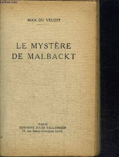 LE MYSTERE DE MALBACKT