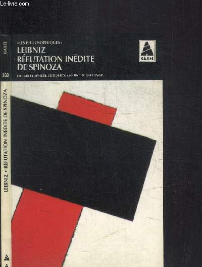 REFUTATION INEDITE DE SPINOZA