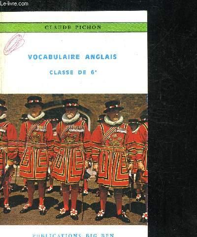 VOCABULAIRE ANGLAIS - CLASSE DE 6e