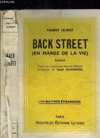 BACK STREET (EN MARGE DE LA VIE) / COLLECTION LES MAITRES ETRANGERS
