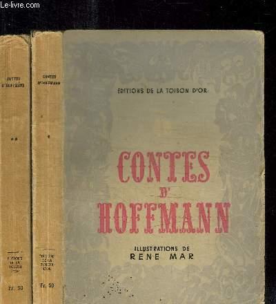 CONTES D'HOFFMANN - COPPELIUS - LE PHILOSOPHE ANGORA + LA FILLE COULEUVRE - LE CELEBRE MINISTRE KLEIN-ZACH - MON AMI PEREGRINUS - 2 VOLUMES