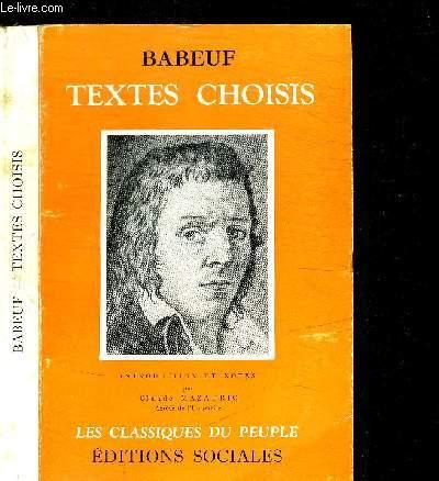 TEXTES CHOISIS / COLELCTION LES CLASSIQUES DU PEUPLE