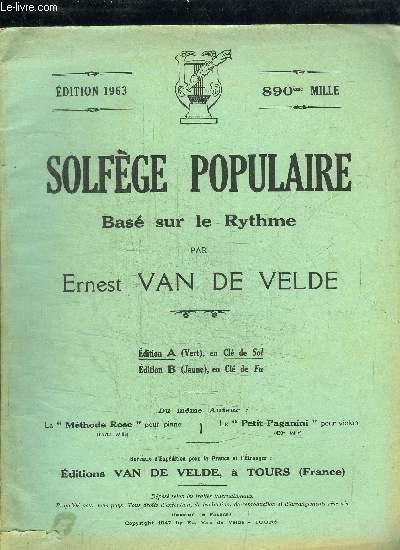 SOLFEGE POPULAIRE BASE SUR LE RYTHME EN CLE DE SOL