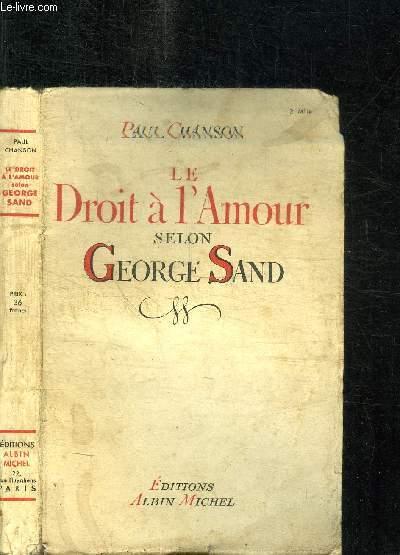 LE DROIT A L'AMOUR SELON GEORGE SAND