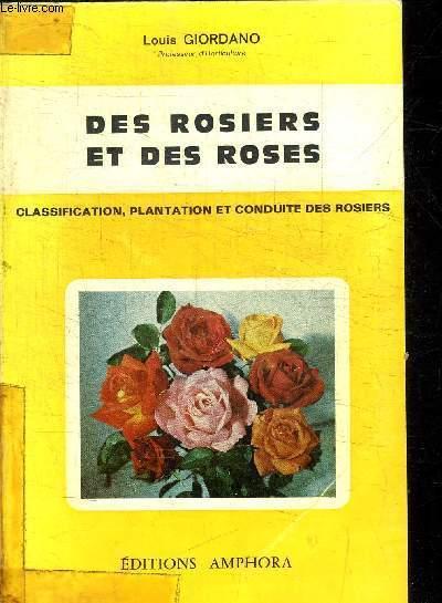 DES ROSIERS ET DES ROSES - CLASSIFICATION, PLANTATION ET CONDUITE DES ROSIERS