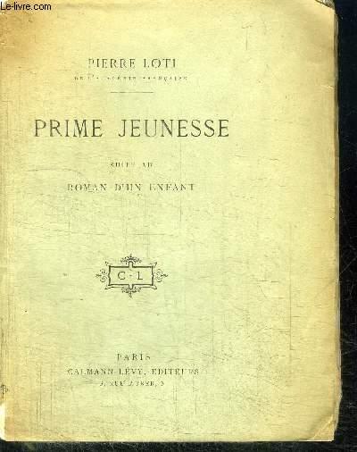 PRIME JEUNESSE SUITE AU ROMAN D'UN ENFANT