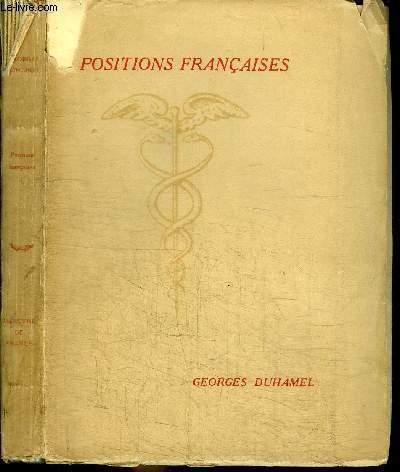 POSITIONS FRANCAISES - CHRONIQUES DE L'ANNEE 1939