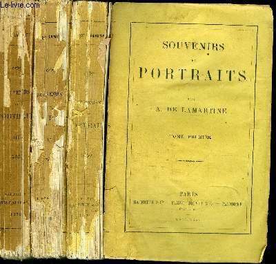 SOUVENIRS DE PORTRAITS - 3 VOLUMES (TOMES 1+2+3) - VENDU EN L'ETAT