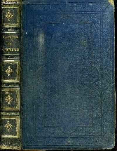 FABLES DE FLORIAN suivies DE TOBIE ET DE RUTH poèmes tirés de l4ecriture sainte et précédées d'une notice sur la vie et les ouvrages de Florian