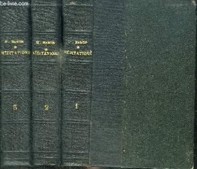 MEDITATIONS A L'USAGE DU CLERGE ET DES FIDELES POUR TOUS LES JOURS DE L'ANNEE - EN 3 VOLUMES (TOME 1 +2 +3) - TOME 1 : DU 1ER DIMANCHE DE L'AVENT AU DIMANCHE DE LA PASSION - TOME 2 : DEPUIS LE DIMANCHE DE LA PASSION JUSQU'AU 8E DIMANCHE APRES LA PENTECOTE