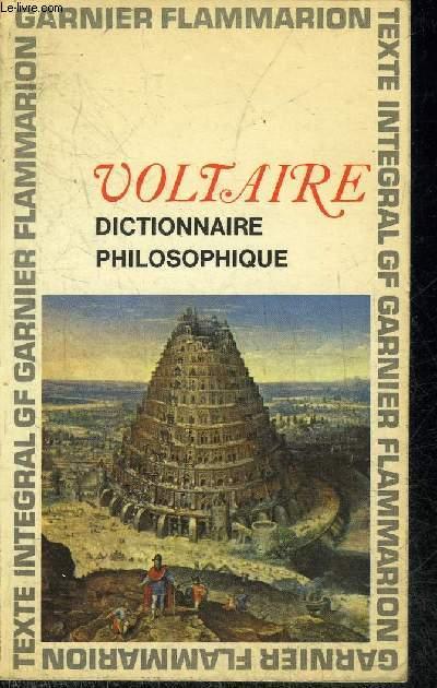 DICTIONNAIRE PHILOSOPHIQUE.