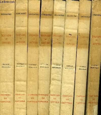 ECRIVAINS ET ARTISTES - EN 8 TOMES - TOMES 1 + 2 + 3 + 4 + 5 + 6 + 7 + 8.