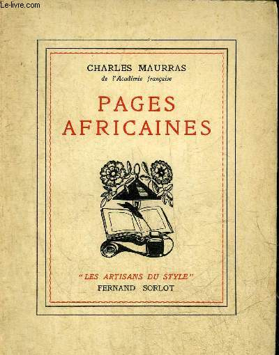 PAGES AFRICAINES - COLLECTION LES ARTISANS DU STYLE.