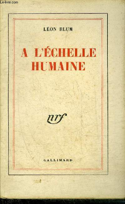 A L'ECHELLE HUMAINE.
