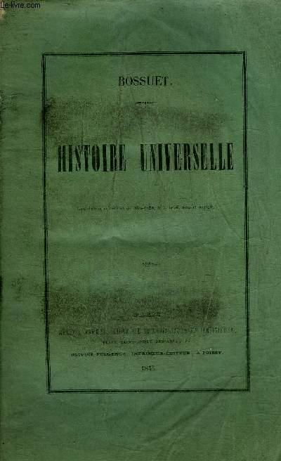 OEUVRES DE BOSSUET - HISTOIRE UNIVERSELLE.