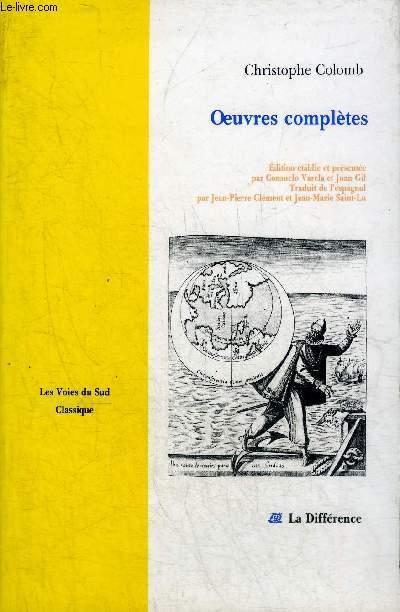 OEUVRES COMPLETES - COLLECTION LES VOIES DU SUD