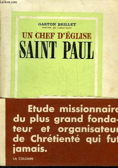 UN CHEF D'EGLISE SAINT PAUL - COLLECTION LE RAMEAU.