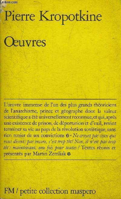 OEUVRES - COLLECTION PETITE COLLECTION MASPERO N°173.