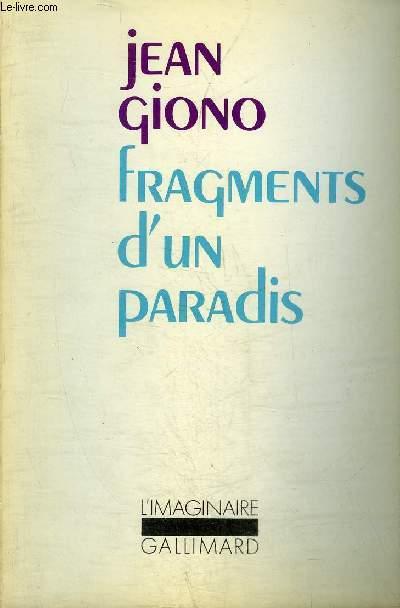 FRAGMENTS D'UN PARADIS (LES ANGES) - COLLECTION L'IMAGINAIRE N°20.