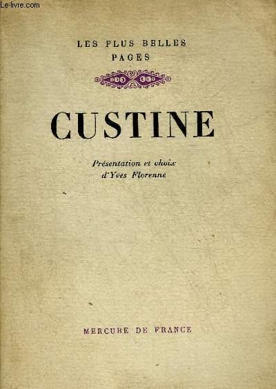 CUSTINE - COLLECTION LES PLUS BELLES PAGES.
