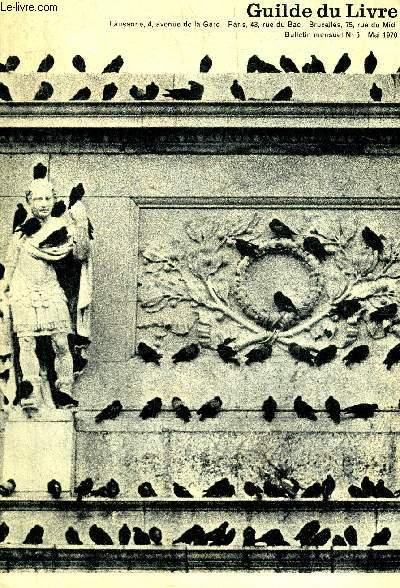 GUILDE DU LIVRE N°5 MAI 1970 - Yasunari Kawabata - Cendrars la jeunesse - la guerre le diable et la jeune fille - mais oui merci on a fort bien compris - catalogue des ouvrages disponibles - soljenitsyne - un coeur plus grand etc.