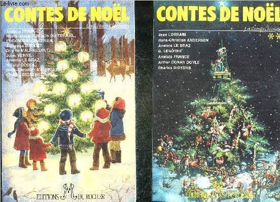 CONTES DE NOEL LES GRANDS CLASSIQUES - COFFRET CONTENANT 2 VOLUMES.
