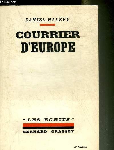 COURRIER D'EUROPE - COLLECTION LES ECRITS.