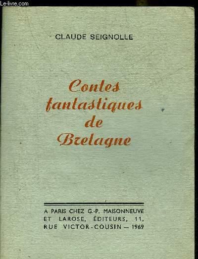 CONTES FANTASTIQUES DE BRETAGNE + ENVOI DE L'AUTEUR.