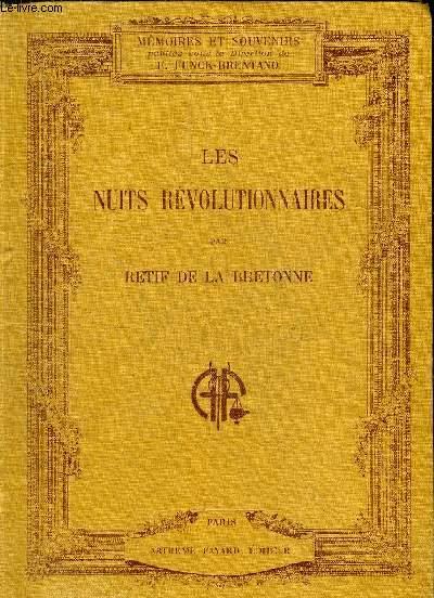 LES NUITS REVOLUTIONNAIRES - IMPRESSIONS ET RECITS CONTEMPORAINS.