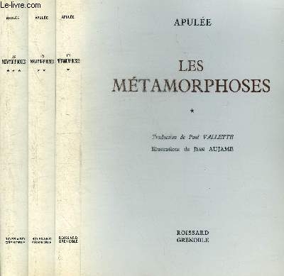 LES METAMORPHOSES - EN 3 TOMES - TOMES 1 + 2 + 3.