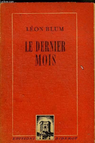 LE DERNIER MOIS.