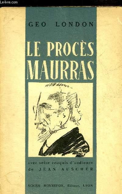 LE PROCES MAURRAS.