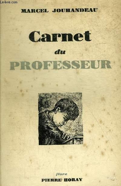 CARNET DU PROFESSEUR.