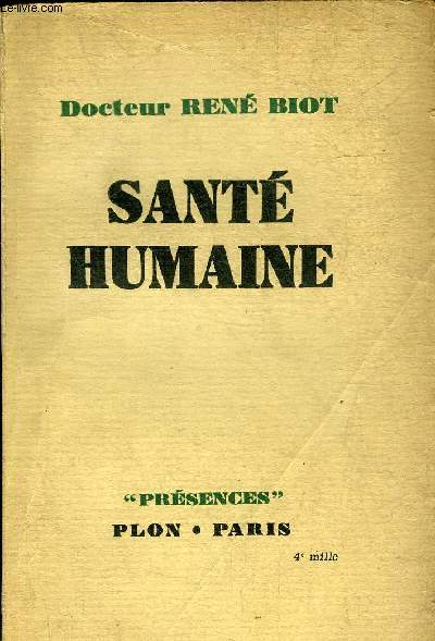 SANTE HUMAINE - COLLECTION PRESENCES.
